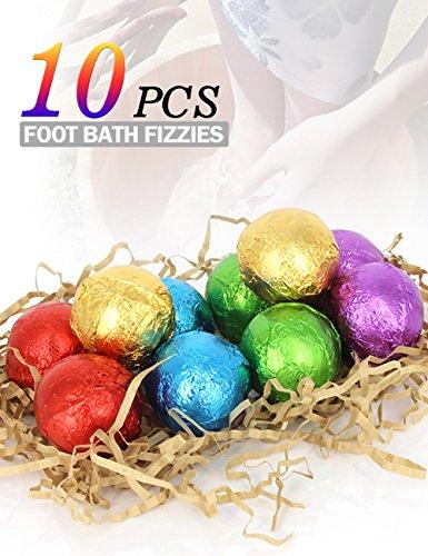 BMK Foot Soak Bath Bombs Essential Oil Feet Spa Soap All Natural Organic Bath Salt Fizzies Eliminates Odors Softens Dry Calluses Detox Tired Feet (Natural Spa Bath)