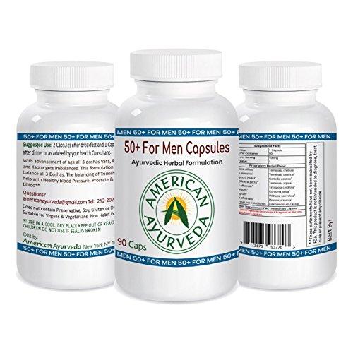 50 Plus for Men Capsules All Natural Herbal Supplement Based on Ayurvedic Principles by American Ayurveda