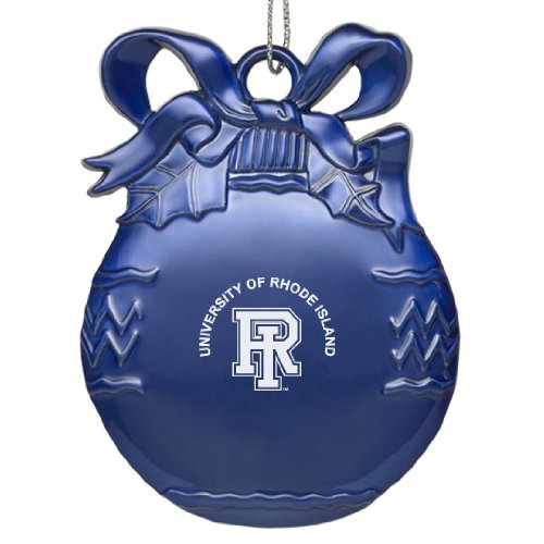 University of Rhode Island - Pewter Christmas Tree Ornament - Blue Island Christmas Tree