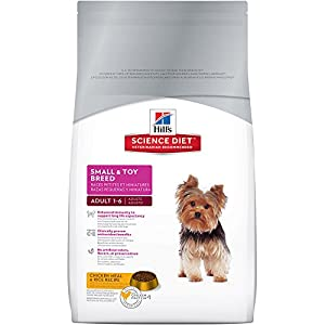 Hill's Science Diet Adult Small & Toy Breed Chicken Meal & Rice Recipe Dry Dog Food, 4.5-Pound Bag