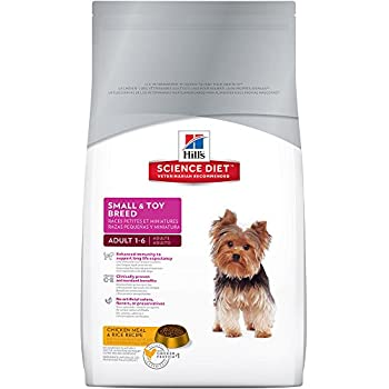 Hill's Science Diet Adult Small & Toy Breed Dog Food, Chicken Meal & Rice Recipe Dry Dog Food, 4.5 lb Bag