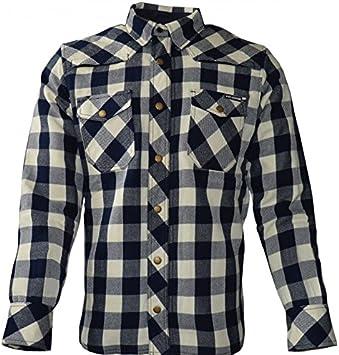 King kerosin – Camisa Air Kevlar de cuadros para motero ...