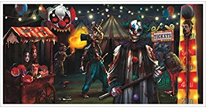 4 Decrotive Spooky Banners Carnival