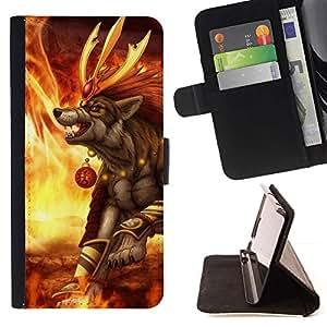 Momo Phone Case / Flip Funda de Cuero Case Cover - Hilarious Burger - Funny - Apple Iphone 6 PLUS 5.5