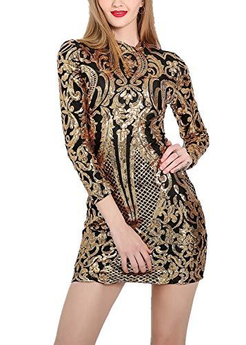 VIVOSKY Women Sparkly Sequin Dresses Cocktail Dresses for Women Sexy Club Outfits for Women