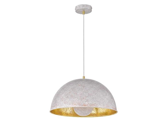 Retro lámpara colgante con pantalla de lámpara de metal 40 ...