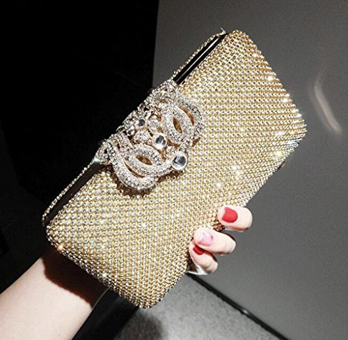 GZHGF Fashion Exquis 'Evening Bag Cadeaux Gold Strass Ladies Mariage Nuptiale Gold rq8Frt
