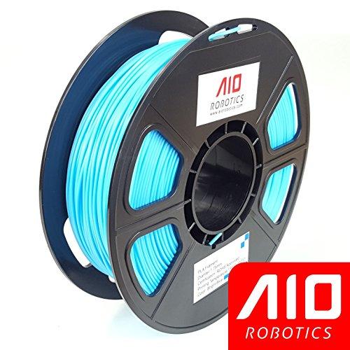 AIO Robotics AIOBRIGHTBLUE PLA 3D Printer Filament, 0.5 kg Spool, Dimensional Accuracy +/- 0.02 mm, 1.75 mm, Bright Blue