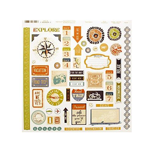 bulk buys Kole Imports CG733 Travel Words & Icons Sticker Sheet