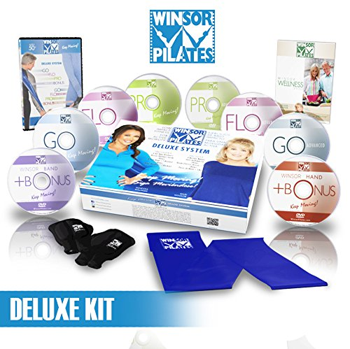 Winsor Pilates Deluxe - 8 DVD's, Weighted Gloves, Resistance Band, Wellness Guide by Winsor Pilates