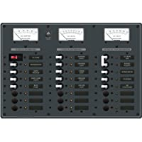 1 - Blue Sea 8084 AC Main +6 Positions/DC Main +15 Positions Toggle Circuit Breaker Panel (White Switches)