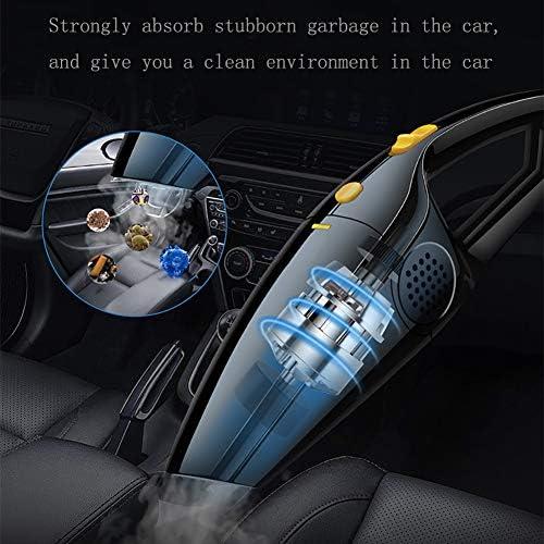 Rzj-njw sans Fil Portable Voiture Aspirateur, Aspirateur Rechargeable 120W sans Fil du Véhicule avec 3700Pa Aspiration Puissant pour La Maison,Noir