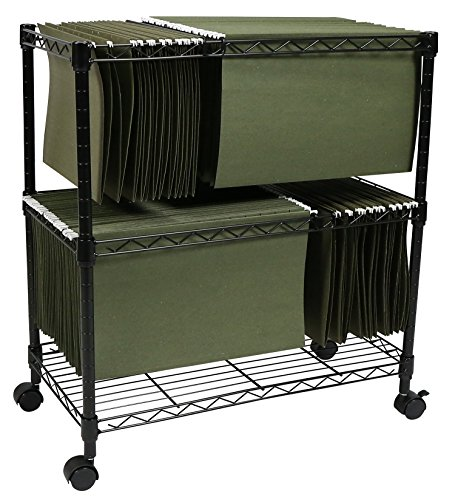 Apollo Hardware 2-Tier File Cart / Mobile File Cart (Black) (2-TIER) by Apollo Hardware