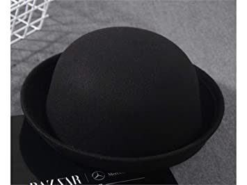 Infant Cap Kids Solid Color Crimped Bowler Hat Children Autumn Keep Warm Hat  for 3- a8752743392