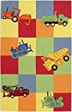 KAS Oriental Rugs Kidding Around Collection Trucks Galore Area Rug, 3'3'' x 5'3''