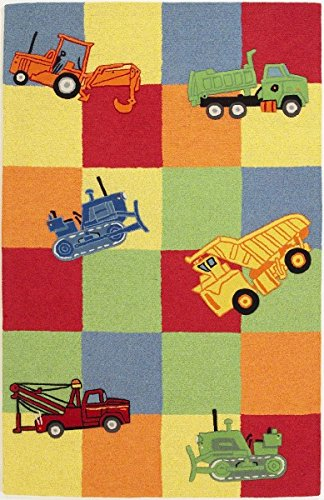 (KAS Oriental Rugs Kidding Around Collection Trucks Galore Area Rug, 3'3
