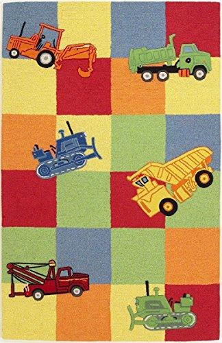 Kas Rugs KAS Oriental Rugs Kidding Around Collection Trucks Galore Area Rug, 3'3