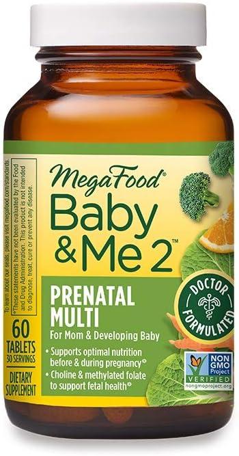MegaFood, Baby & Me 2, prenatal Vitamin with Choline, Iron, Active Form...