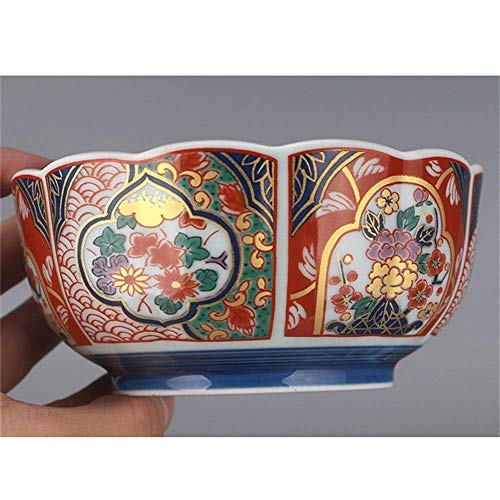 Canju Kitchen/Tableware/for Home Outdoor Camping Soup Ramen Noodle Bowl Fruit Salad Rice Cereal Dessert Serving Bowl Retro Palace Ceramic Tableware Hand Painted Colorful Bowl Gift Souvenir Bowl