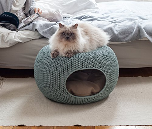 Keter-227-x-223-x-13-KNIT-Cozy-Luxury-Lounge-Bed-Pet-Home-with-Cushions-Small-to-Medium