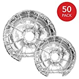 Electric Stove Burner Covers (50 Pack) - Disposable Aluminum Foil 6' and 8' Round Burner Cover Liners Great for Keeping Electric Range Stoves Clean from Oil & Food Drips