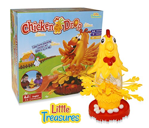 Chicken Drop Ker-Plunk Education Game, Plunk the Feathers from the Chicken without Releasing the Eggs. A Fun Family Game for Boys and Girls. (Games For 4 Year Old Boys)