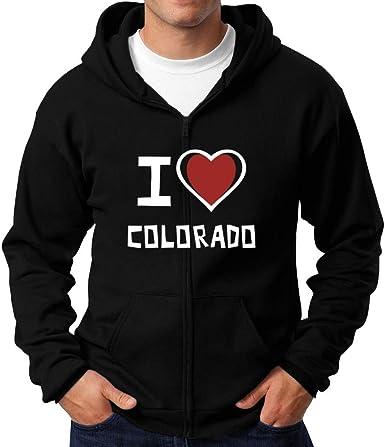 Teeburon I Love Colorado Bold Font Hoodie
