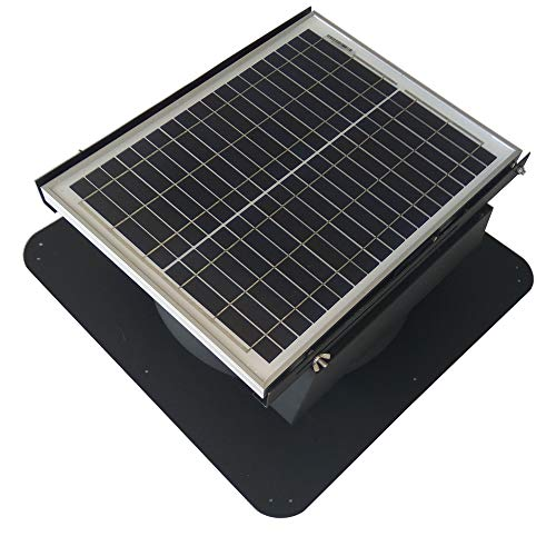 (Solar Powered Roof Mount Adjustable Attic Fan Easy Installation Noise Less Than 45db Ventilator)
