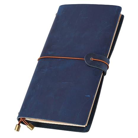Amazon.com: Leatheory Diario de piel – diario de viaje hecho ...