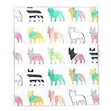 Society6 French Bulldogs 68'' x 80'' Blanket