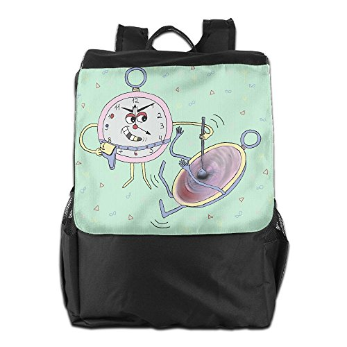 Cute Alarm Clock Outdoor Backpack Rucksack Laptop Bag Laptop Theft Alarm