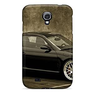 Durable Cases For The Galaxy S4- Eco-friendly Retail Packaging(black Porsche Car)