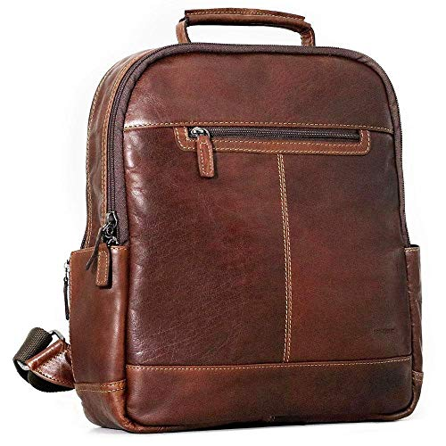 (Jack Georges Voyager Collection Convertible Messenger 7134 (BROWN) )