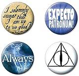 Ata-Boy Harry Potter Favorites Set of 4 1.25