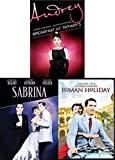 Hepburn Classics Triple Feature Film Collection Breakfast at Tiffany's + Roman Holiday & Sabrina Classic Bundle (Audrey Hepburn/ Bogart/ Gregory Peck)