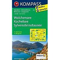Walchensee - Kochelsee - Sylvensteinstausee: Wanderkarte mit Aktiv Guide, Radwegen, Skitouren und Loipen. GPS-genau. 1:25000: Wandelkaart 1:25 000 (KOMPASS-Wanderkarten, Band 6)