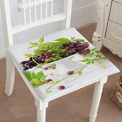 Grape Cake Stand (Mikihome Memory Foam Chair Pads Type Grapes with Leaves on a Cake Stand Cushion Perfect Indoor/Outdoor 20