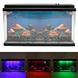 Image of Caveen Moving Jelly Fish Tank with LED Lights, 3D Backing - Fantastic Gift! 12 Change LED Light and 7 Color Light Effects.
