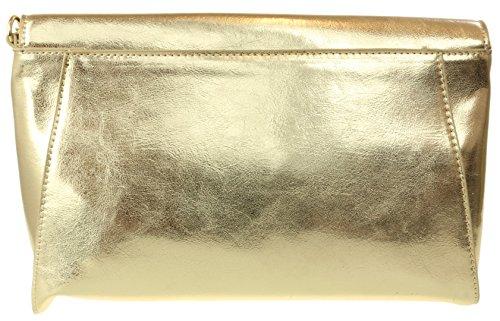 Gold Girly Clutch Metallic Clutch HandBags Bag HandBags Effect Metallic Girly Effect wawFZqv