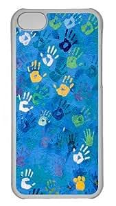 Handprint Art Polycarbonate Hard Case Cover for iPhone 5C Transparent wangjiang maoyi