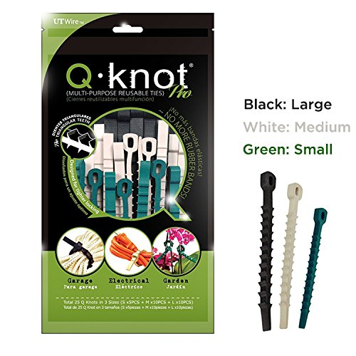 Ut Wire Q Knot Pro Reusable Cable Ties, Assorted, Set of 25