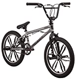 Mongoose Legion Mag Freestyle BMX Bike Featuring Hi-Ten Steel Frame and 40x16T BMX Gearing with 20-Inch Mag Wheels, Silver (Renewed)