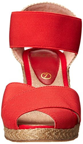 Andre Wedge Women Sandal Assous Red Emmie 7Rrwn7Sq