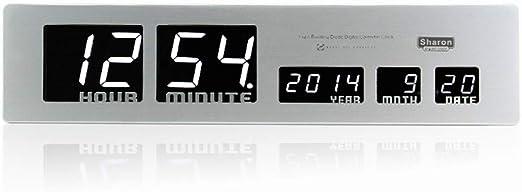 Amazon Com 3d Led Digital Wall Clock Modern Home Decor Bedrooms Clocks Desk Clock With Date Home Kitchen