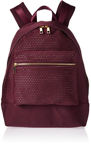 The Fix Riley Perforated Neoprene Backpack Fashion Backpack, Burgundy