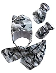 N'Ice Caps Boys and Baby/Infant/Toddler Micro Fleece Hat/Scarf/Mitten Set
