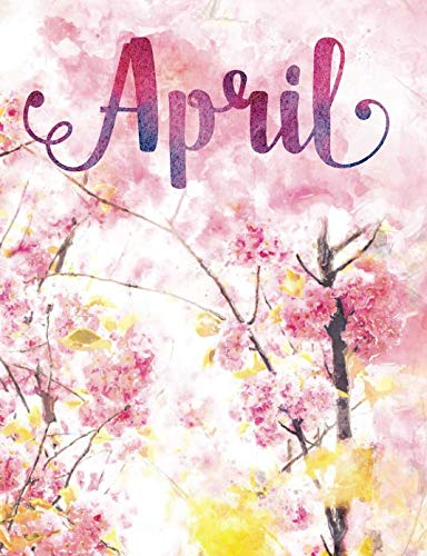 April: Personalized Journal - A Pink Cherry Blossom Diary
