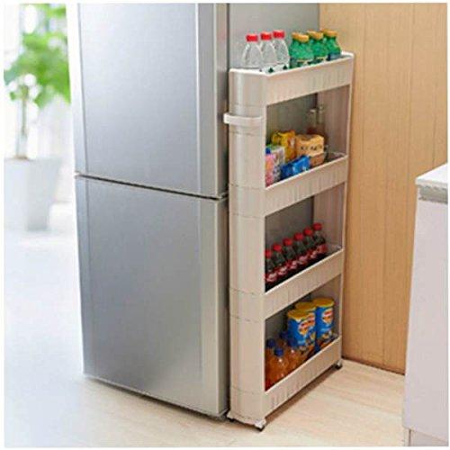 Slim Slide Out Kitchen Rack Holder Storage Cabinet Shelf Organiser ...
