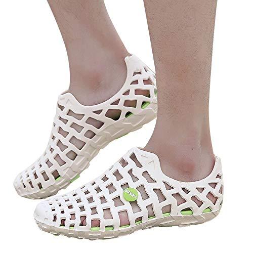 Womens Skeleton Sandals - POHOK Men Women Unisex Classic Casual Shoes Couple Beach Sandal Flip Flops Shoes(White,41) from POHOK