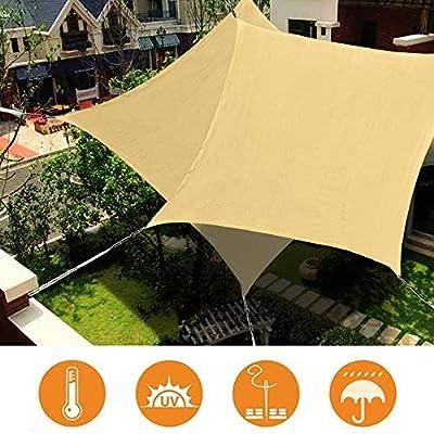WISKEO Toldos Vela Rectangular Resistente e Impermeable Pergola Protección Solar Terraza Playa Camping Jardín Piscina - Beige 4x5.5m: Amazon.es: Hogar